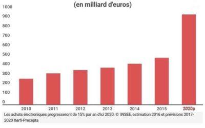 L'e-commerce BtoB français va croître de 15% par an jusqu'en 2020